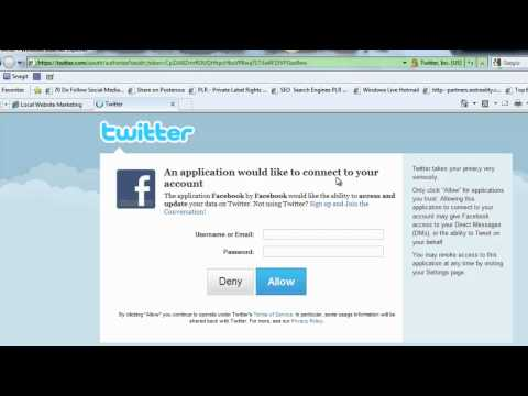 How to Add Twitter account  to a Facebook Page