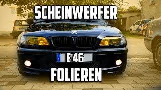 E46 Scheinwerfer folieren   E36 TAZ