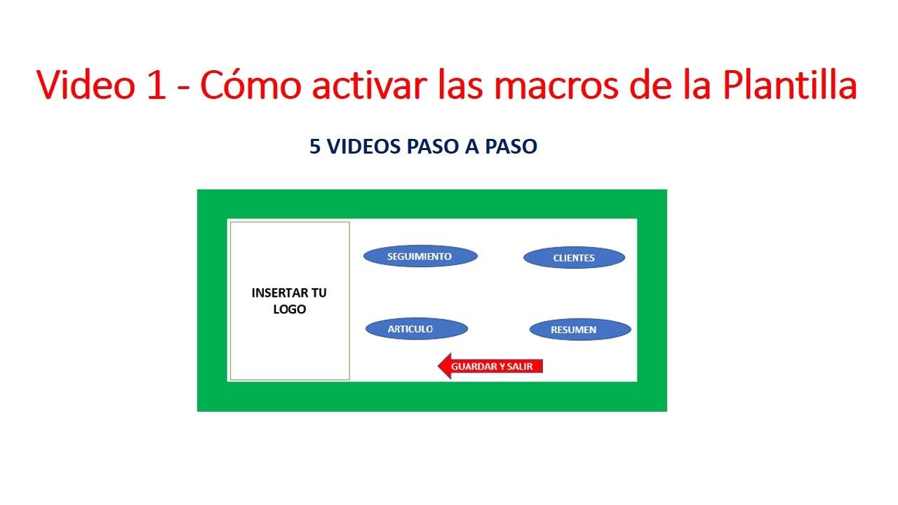 Como Activar las Macros de la Plantilla Contro de Cuentas por Cobrar ...
