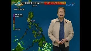 Weather update as of 6:00 a.m. (February 19, 2018)