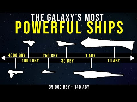 Star Wars History: Most Powerful Ships (35,000 BBY--140 ABY) - Complete Timeline
