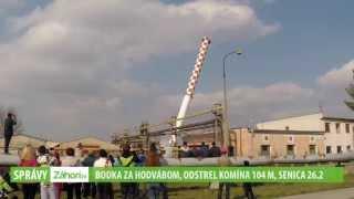 Odstrel komína  - Senica (26.2. 2014)