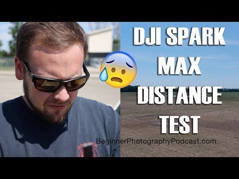 DJI Spark Max Distance Test Flight with Controller
