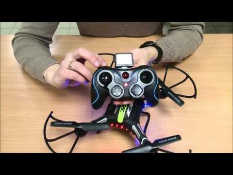 Видео Квадрокоптер jjrc h8c transmitter