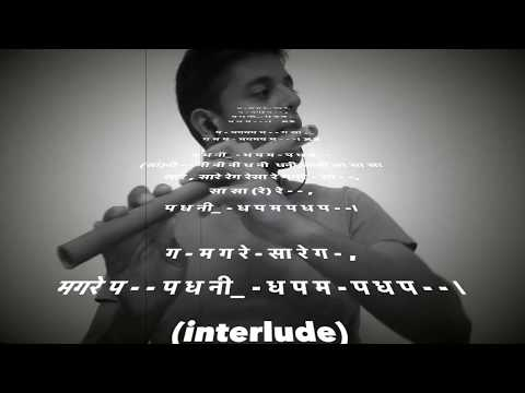 Lakshya Flute Cover/ Play Along with Hindi Notes