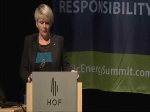 AES 2013 - Minister Ragnheidur Elín Árnadóttir, Ministry of Industry and Innovation, Iceland