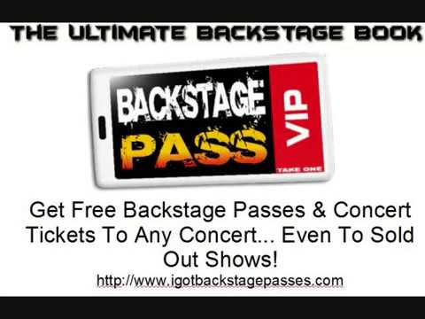 How to Get Backstage Passes to Any Concert: 4 Steps