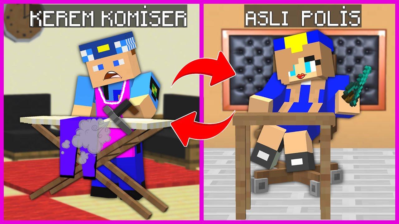 KEREM KOMİSER İLE KIZ POLİS HAYATLARINI DEĞİŞTİRDİ! 😱 - Minecraft