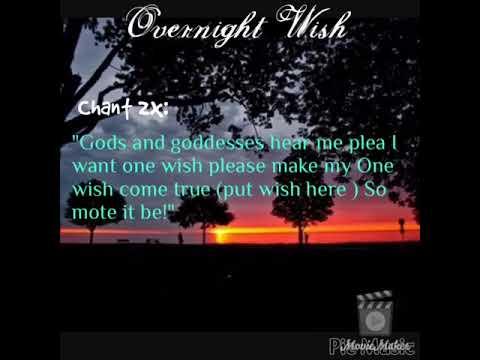 Overnight Wish Spell