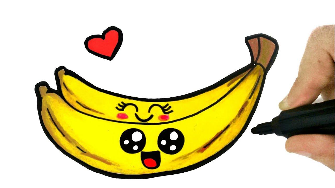 How To Draw A Banana Como Desenhar Uma Banana Youtube