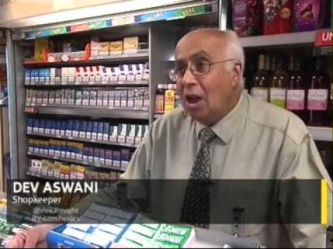 ITV Wales 22.08.12 - Survey on the Effects of Tobacco Smuggling on Corner Shopkeepers