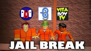 Let's Break Out of Jail | Roblox Jail Break with GamerBoy JJM, VitaBoy TV & Burlington Gamer