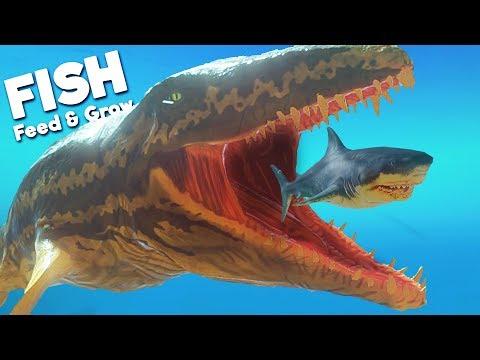 *NEW* PREHISTORIC PROGNATHODON BEAST! | Feed and Grow Fish