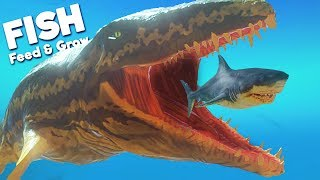 *NEW* PREHISTORIC PROGNATHODON BEAST! | Feed and Grow Fish