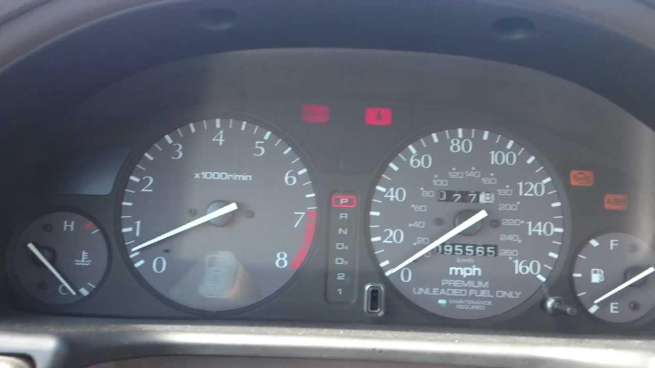 1997 Acura TL 2.5L Idle problem - YouTube