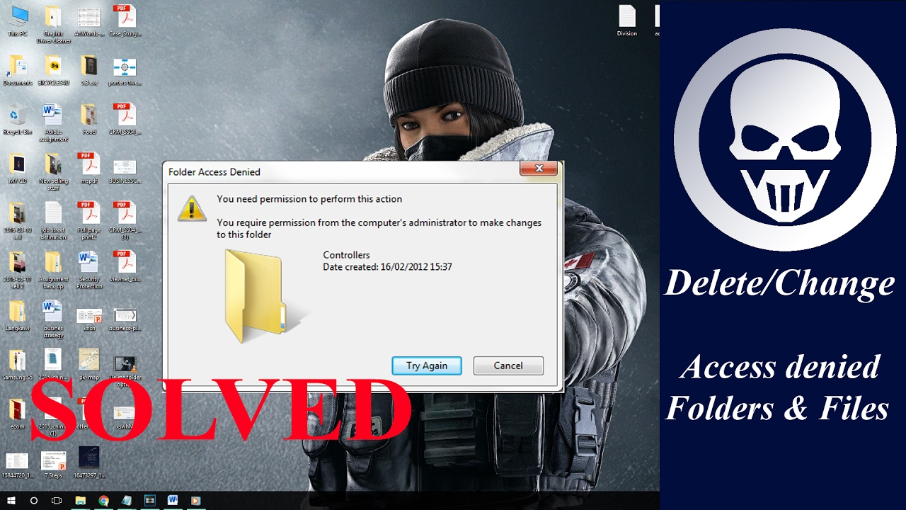 Cannot delete folder / access denied [solved] - No CMD required