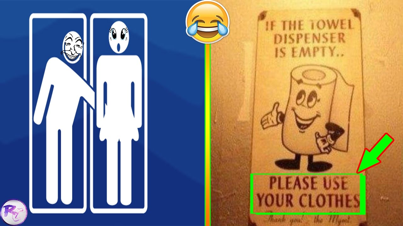 Most Funniest Bathroom Signs Youtube