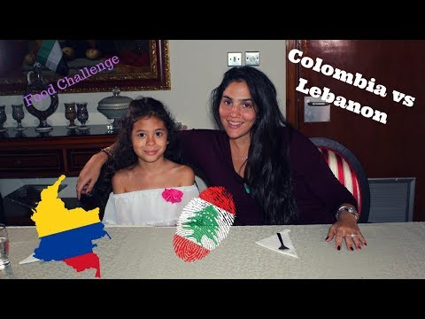 Colombian Vs Lebanese food challenge/My experience with Arabic food./Probando comida Arabe.
