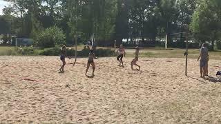 Пляжный волейбол.  Девушки. Игра за 1-е место.  Часть1. Стрим.