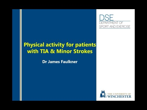 Physical Activity for patients with TIA and minor stroke