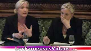 Marine Le Pen et sa soeur jumelle. Deux personnalités très différentes.