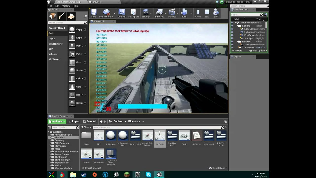 Make fps game unreal engine 4