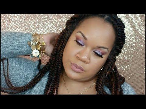 Make-Up Mash Up GLAM   Morphe/Jaclyn Hill Palette & Huda Beauty Nude Palette thumbnail