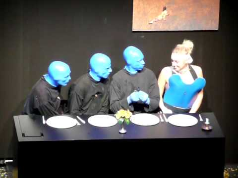 Student Event Management Stenden University on stage BlueManGroup Berlin