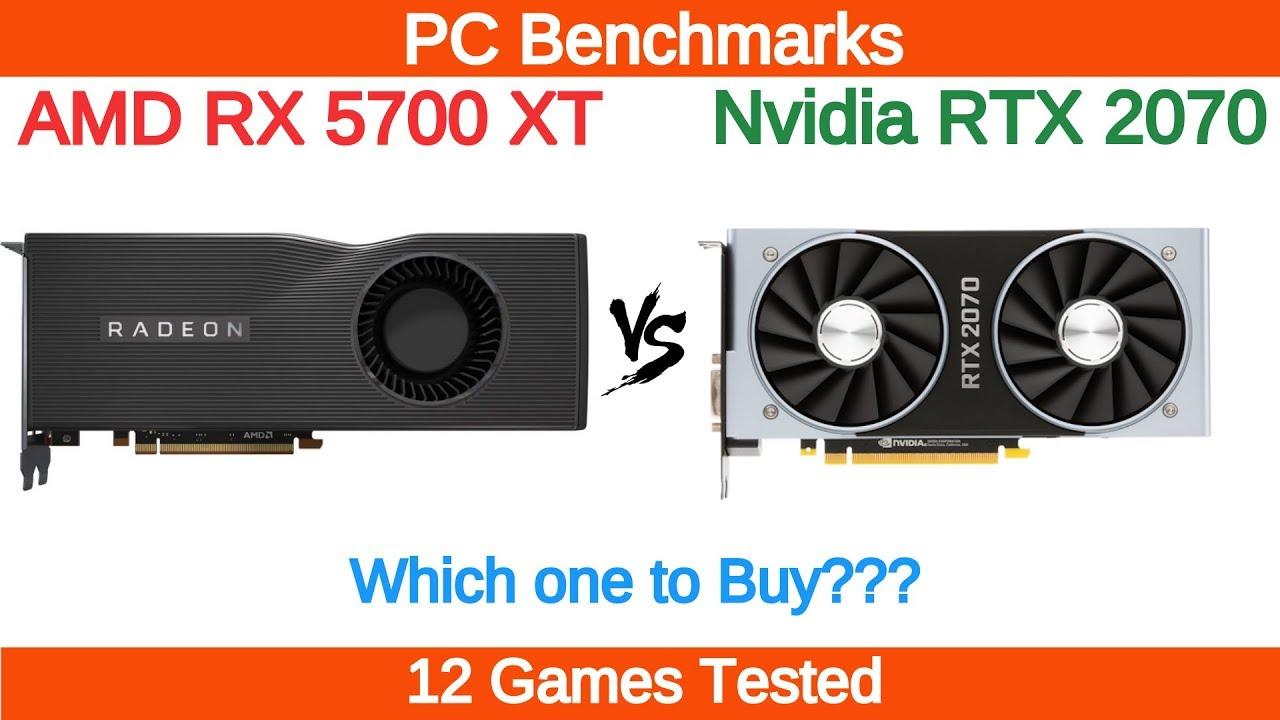 AMD RX 5700 XT vs Nvidia RTX 2070 Benchmarks - PC Benchmarks