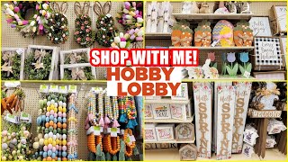 HOBBY LOBBY EASTER AND SPRING DECOR SHOP WITH ME 2021