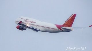 [Air India One] Boeing 747-400 (VT-EVA) arrival and departure at KIX/RJBB (Osaka - Kansai)
