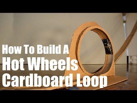 Build A Hot Wheels Loop Track From Cardboard