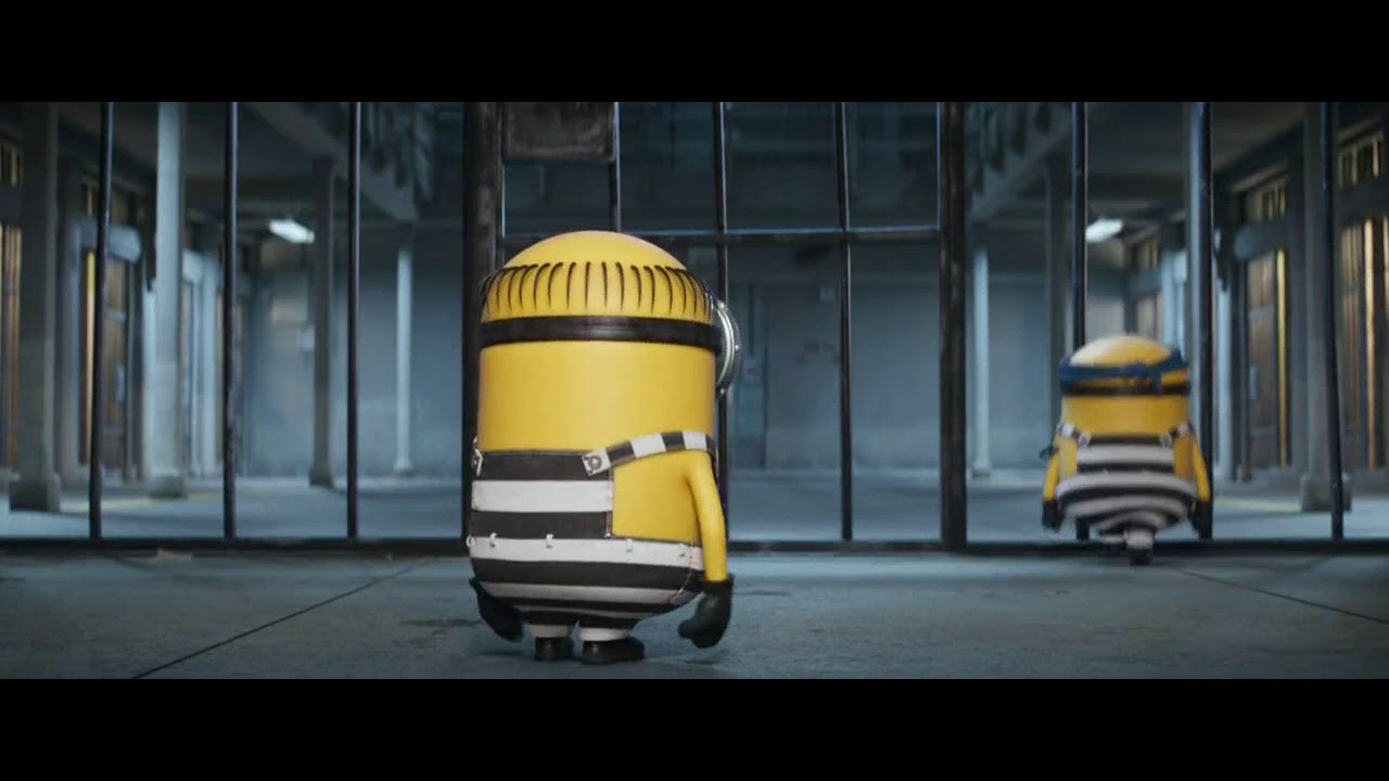 Despicable Me 3 minions in jail funny scene #1