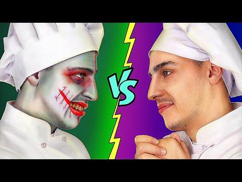Thử Thách Đồ Ăn Halloween vs Đồ Ăn Thường! / Trận Chiến Trò Đùa Halloween Ma Quái!