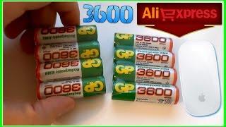 ПОСЫЛКА с Aliexpress  БАТАРЕЙКИ GP 3600 (1000 mAh) А. А. 1.2 В NI-MH Аккумуляторы Обзор и тест