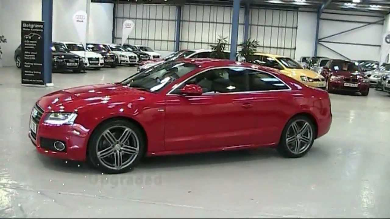 audi a5 fsi s line in red now sold at belgrave motors youtube. Black Bedroom Furniture Sets. Home Design Ideas