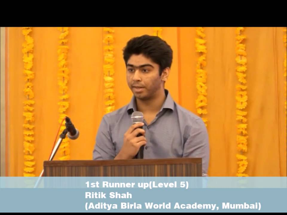 Ritik Shah, Aditya Birla World Academy, Mumbai