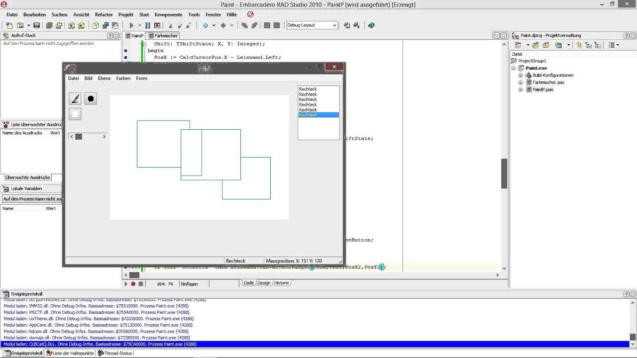 delphi tutorials paint programmieren teil 4 formen zeichnen youtube. Black Bedroom Furniture Sets. Home Design Ideas