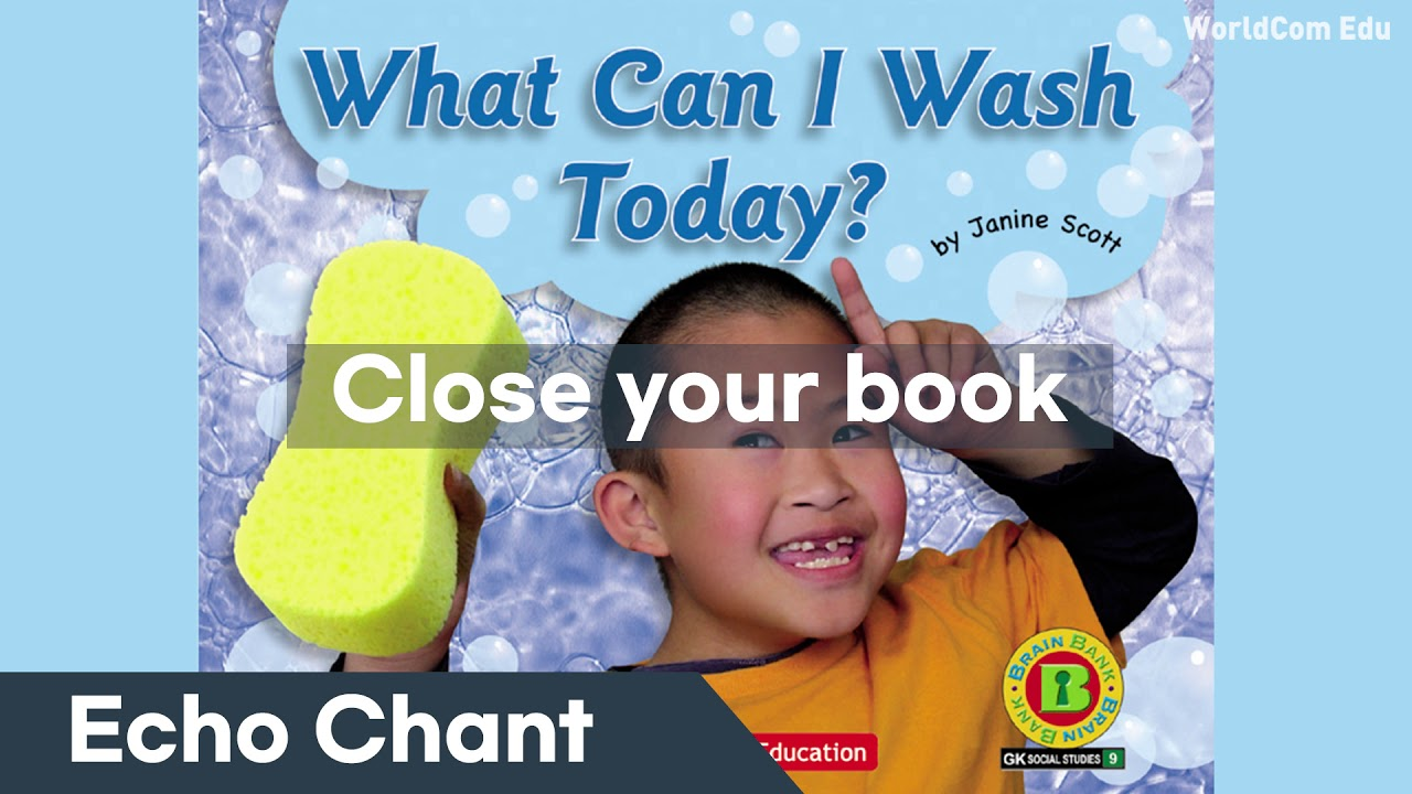 [브레인뱅크 GK Social Studies  ]  09. What Can I Wash Today? .Echo Chant  ( 어린이 스피킹 프로그램)