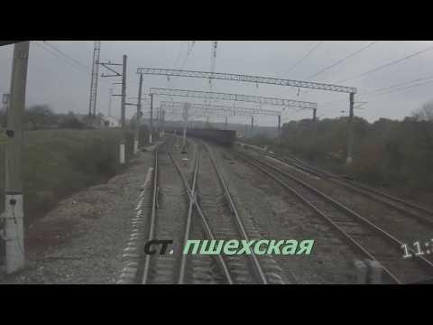 Аэроэкспресс ЭД4м  Белореченская -Туапсе вид из кабины