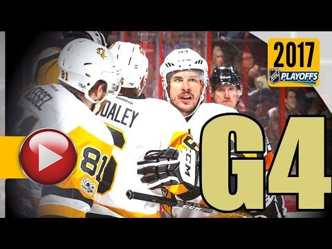Pittsburgh Penguins vs Ottawa Senators. NHL 2017 Playoffs. Eastern Conference Final. Game 4. (HD)