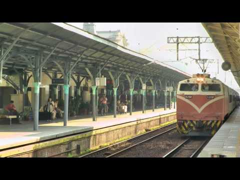 [HD] The Taiwan TRA up Chu-Kuang Express Train no. 51(1) (E222) at the Taichung Station