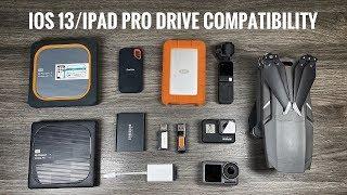 iOS 13 & iPad Pro Hard Drive Compatibilty and Demonstration