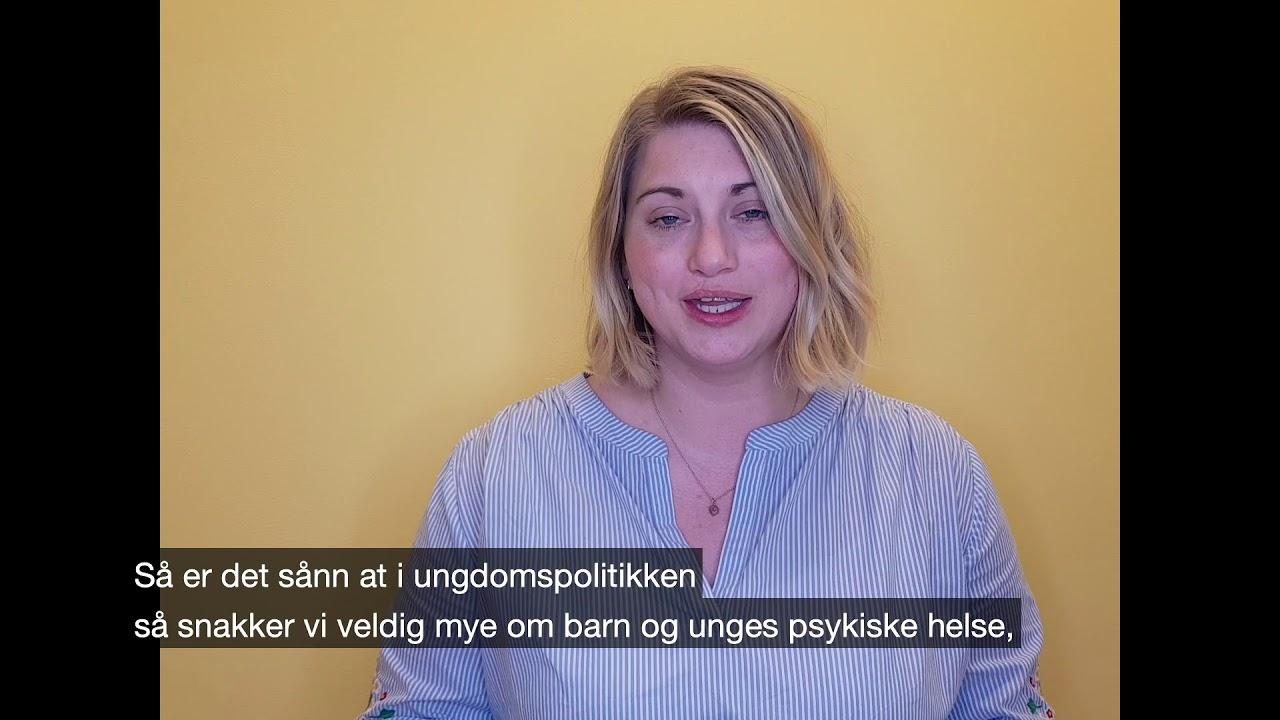 Martine Tønnesen: slik vil KRFU forebygge psykiske helseplager hos barn og unge