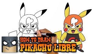 How to Draw Pikachu Libre | Pokemon (Art Tutorial)