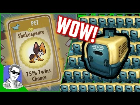 Fallout Shelter 40 Pet Carrier Opening Legendary Pets Special