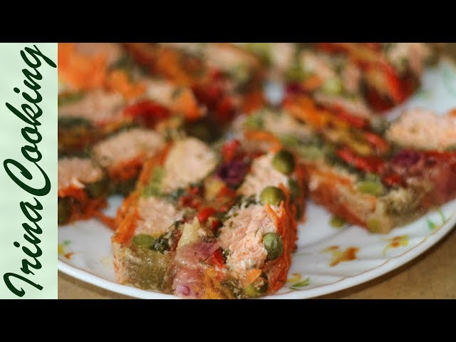 Оригинальный РЫБНЫЙ ТОРТ 🐠 Закуска из Рыбы для Праздничного Стола ✧ Ирина Кукинг