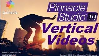 Pinnacle Studio 19 Vertical videos editing