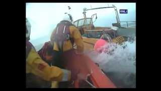 Bude lifeboat crew in dramatic high-speed rescue of fisherman and runaway boat