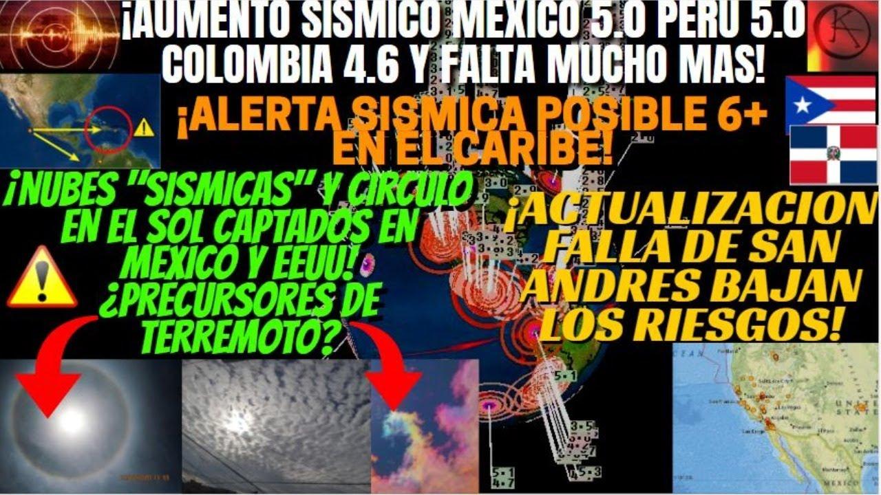 """¡ALERTA SÍSMICA P.R Y R.D TERREMOTO 6+! ¡""""PRECURSORES SÍSMICOS"""" EN MÉXICO Y EEUU!¡REPORTE GLOBAL!"""